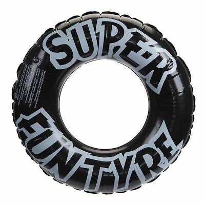 36 /91cm Inflatable Black Tyre Rubber Swimming Ring Travel Holiday Lounge Pool • 4.07£