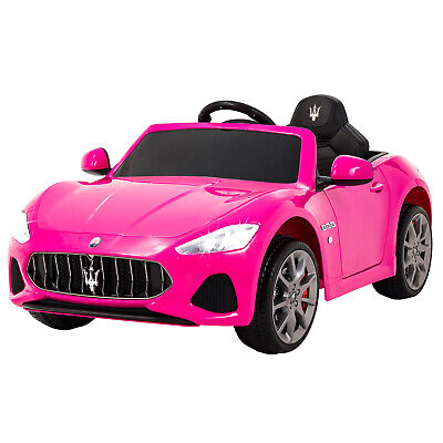 12V Maserati Licensed Pink Kids Ride On Electric Car With Music Remote Control • 139.99£