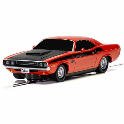 SCALEXTRIC Slot Car Dodge Challenger Red & Black • 24.95£