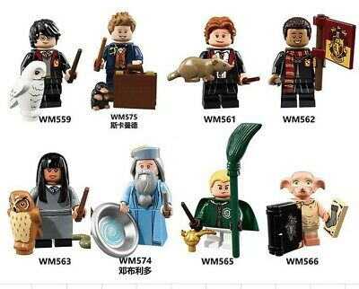 Harry Potter Custom Mini Figures Dumbledore, Newt Scamander, Weasley - Set Of 8 • 7.99£