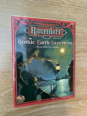 Advanced Dungeons And Dragons The Gothic Earth Gazetteer TSR 9498 RPG D&D • 32.99£
