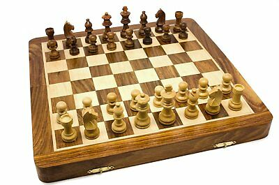 Personalised Hand Crafted Large Chess Game Set With Rosewood Board, Engraved • 49.99£