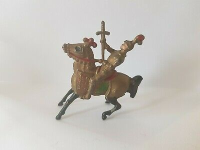 Rare Cherilea Vintage Hollow Cast Lead Mounted Knight On Armoured Horse   • 44.25£