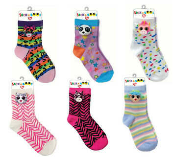 Official Ty Fashion Sock A Boos Childrens One Size Fits All Socks Fantasia Dotty • 7.95£