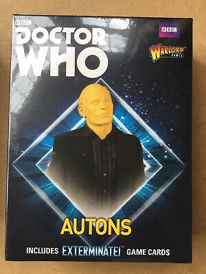DOCTOR WHO - AUTONS - WARLORD GAMES MINIATURES 38mm NEW/SEALED EXTERMINATE • 17.50£