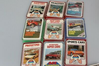 Top Trump Games 9 Lots Sports, Stock, Rally, Super Cars, Dragsters, Buggies Etc • 40£