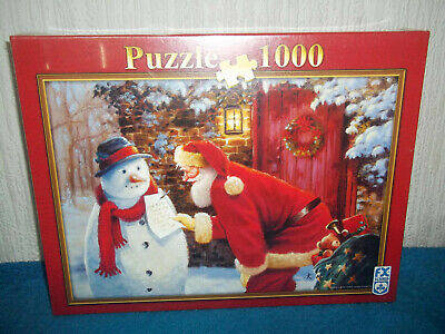 Snowman's Request - Marks And Spencer Puzzle - 1000 Piece Jigsaw - New & Sealed • 11.99£