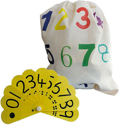 Numbers 1-10 Counting Drawstring Bag And Number Fan  • 6.50£