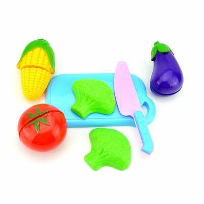Fruit Pretend Kitchen Cutting Set Fruit Vegetable Food Reusable Role Play Toy Lx • 2.89£