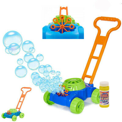 Kids Lawn Bubble Mower Bubbles Machine Blower Garden Party Summer Fun Toy Gift  • 12.95£