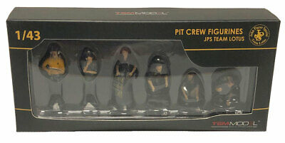 Truescale Miniatures Pit Crew Figurines Team Lotus F1 'JPS' Set Of 6 -1/43 Scale • 75£