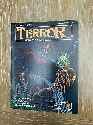 Call Of Cthulhu Horror RPG Terror From The Stars Chaosium 1986 Rare • 34.99£