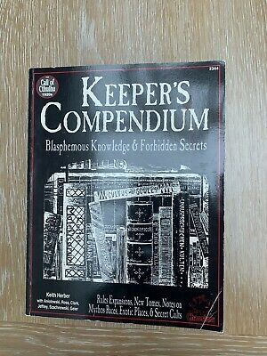 Call Of Cthulhu Horror RPG 1920's Keeper's Compendium Chaosium 1993 • 29.99£