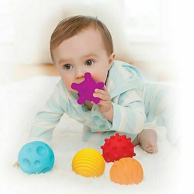 Baby Ball Set 6 Pieces Multi Textured Sensory Soft Ball Hand Ball Toy Toddlers • 10.99£