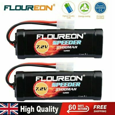2X Floureon NiMH Battery Pack 3500mAh 7.2V Rechargeable For Tamiya RC Car Truck • 32.99£