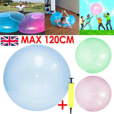 120CM Soft Bubble Ball Wubble Squishy Play Firm Super Stretch Transparent Sports • 7.49£