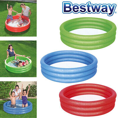 Inflatable Childrens Kids Toddler Infant Garden Swimming Paddling Splash Pool • 9.95£