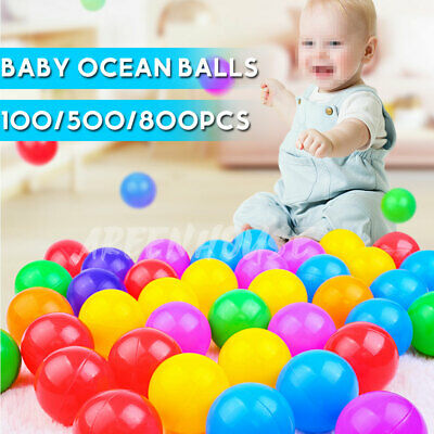 50-800 Ball Pit Balls Play Kids Plastic Baby Ocean Soft Toy Colourful Playpen UK • 7.99£
