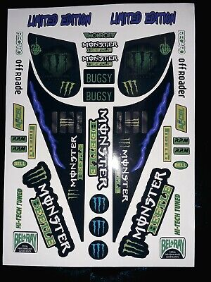 Monster Beetle Monster 1/10 RC Decal Sheet Precut Customized Vintage 90s • 11.99£