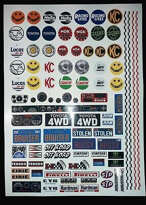 Spot Lights Number Plates 1/8/10/12th Stickers RC Decal Sheet Precut Customized  • 10.99£