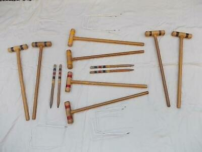 753 / Wooden Vintage Childs Croquet Set • 24.99£