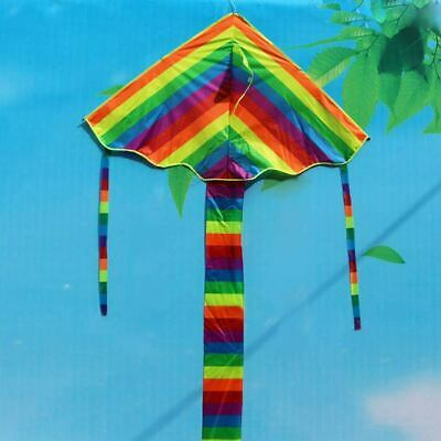 Children Adult Rainbow Kite Easy To Fly Single Line Park Fun Kid Toy Colourful • 6.69£