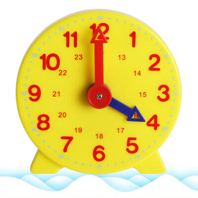 Tell The Time Clock Learning Toy Teaching Number Kids Time Educational Tool • 2.89£