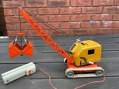 Tinplate Battery Operated Crane Western Germany - Fully Working Model Rare • 99.95£