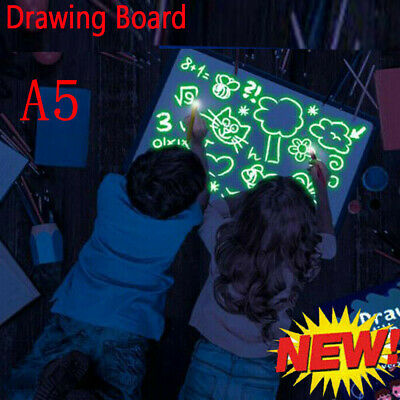 Draw With Light Drawing Board Fun Developing Toy Magic Paint Kids Educational A5 • 3.58£