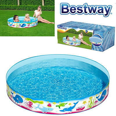 Bestway 5ft Rigid Childrens Kids Summer Fun Garden Swimming Paddling Splash Pool • 19.95£