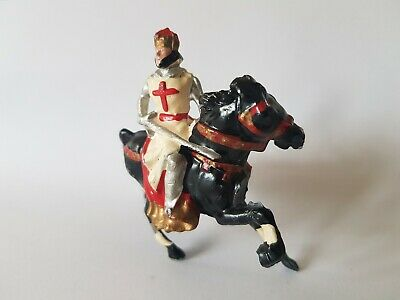 Vintage 1950s Cherilea Hollow Cast Mounted Lead Figure King Richard I Crusader • 62.14£
