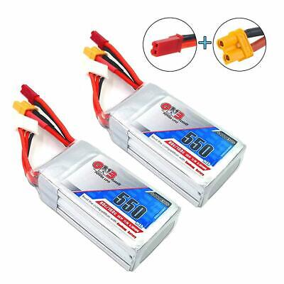 2pcs GNB 550mAh LiPo Battery 3S 80C 11.1V XT30 JST Plug For FPV Racing Drone • 18.99£
