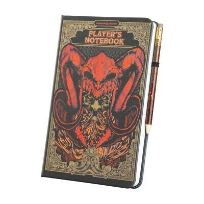 Official Dungeons And Dragons A5 Notebook Note Pad Jotter With Pencil • 10.95£