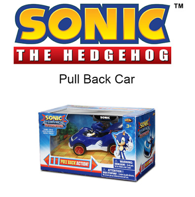 Sonic The Hedgehog 9CM Pull Back Action Car - New • 9£