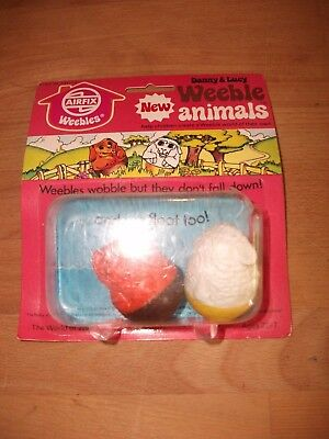 Vintage Airfix Animal Weebles Figures MOC ~ Danny & Lucy • 14.99£