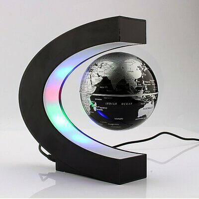 Home LED Decor Globe Educational Childrens Magnetic Floating World Countries Map • 18.95£