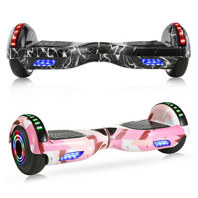 Self Balancing Board 6.5 Electric Hover Scooter Bluetooth LED Flash Wheel Chrome • 138.99£