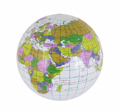 Inflatable Globe Map Ball 40cm • 20.99£