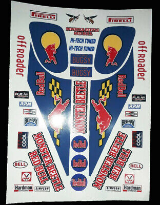 Monster Beetle Blue 1/10 RC Decal Sheet Precut Customized Vintage 90s • 10.99£