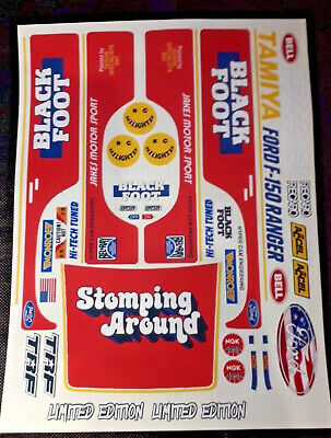 BlackFoot Red USA 1/10 RC Stickers Decal Sheet Precut Customized  • 11.99£