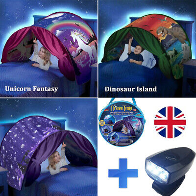 Dream Tents Kid House Unicorn Foldable Tent Pop Up Indoor Bed With Light Gift • 14.99£
