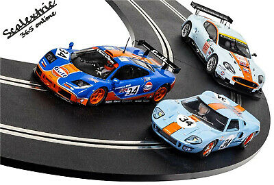SCALEXTRIC Slot Car ROFGO Collection Gulf Triple Pack C4109A • 104.99£