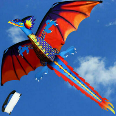 Children Gift 3D 328ft Line With Tail Dragon Kites Kid Toy Flying Activity Games • 13.78£
