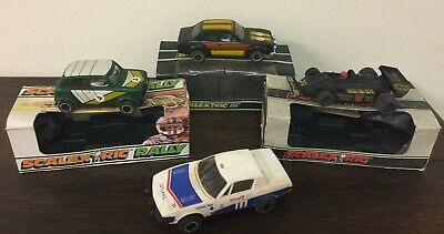Lot Of Vintage Scalextric Electric Model Racing And Rally Cars - Boxed • 45£