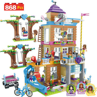 Building Blocks Girls Friendship House Model Stacking Bricks Girls Friends Gift! • 20.89£