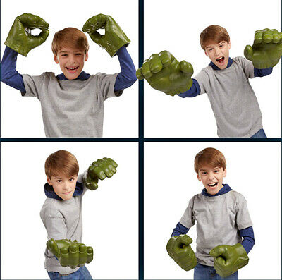 Avengers Cosplay Hulk Smash Hands Soft Toy Doll Gloves One Pair Party Toys Gift • 12.99£