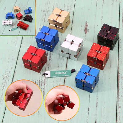 Mini Metal Infinity Magic Cube Blocks For Stress Relief Fidget Anti Anxiety New • 15.20£