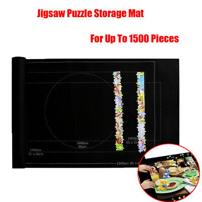 Jigsaw Puzzle Storage Mat Roll Up Puzzle Felt For Up To 1500 Pieces Storage Pad • 4.92£