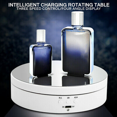 360° Electric Rotating Display Stand Turntable Collectibles Jewelry Watch Holder • 11.99£