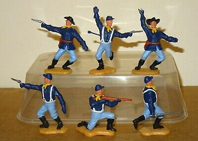 TIMPO SECOND SERIES COMPLETE SET OF 6 US 7th CAVALRY TROOPERS (1970's) • 8£